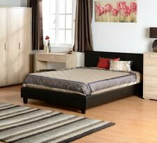 Faux Leather Prado Bed - Single, Double, Small Double, King Size Bedroom Sleep