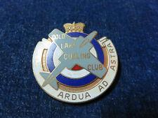 "Orig Vintage RCAF Lapel Badge ""Cold Lake Curling Club"" Royal Canadian Air Force"