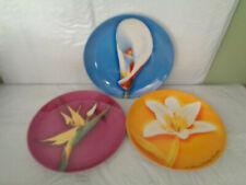 """(3) Les Fleurs De Parfums Givenchy - Dessert / Salad Plates - 8.25"""" - Flowers"""