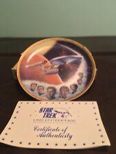 1983 Ernst Gold Signatures Star Trek Uss Enterprise Commemorative Crew Plate Coa