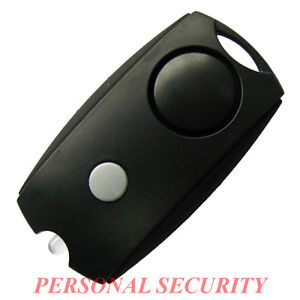 PERSONAL SECURITY 120dB LOUD Panic Alarm,Safety Guard Siren LED torch, BLACK..