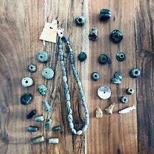 "Pre-Columbian Vera Cruz Jadeite Jade 21"" Strand Beads and Other Large Mixed Lot"