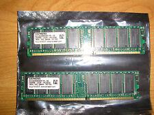 Deux Mémoires vives RAM SIEMENS 256Mo DDR -PC3200
