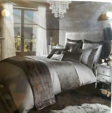 NEW Kylie Minogue At Home Saturn Double Duvet Cover, Grey