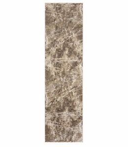 """Gertmenian, 2' 2"""" x 8 ft Torino Collection Abstract Coco Neutrals Runner Rug"""
