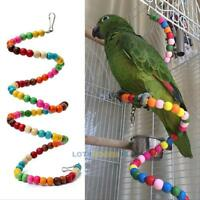Bird Parrot Toy Swing Hanging Ladder Parakeet Cockatiel Budgie Lovebird Toys New