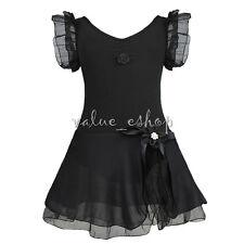 Girls Toddler Ballerina Costume Skirt Ballet Dance Wear Leotard Gym Tutu Dress