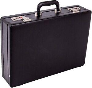 New Executive Attache Pu Leather Briefcase Expanding Executive Case Business Bag