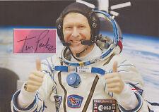 TIM PEAKE Signed 12X8 Photo Display SPACE STATION Soyuz TMA-19M COA
