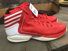 NWT Men's Adidas Basketball AS SMU adiZero Crazy RED and White Size 15