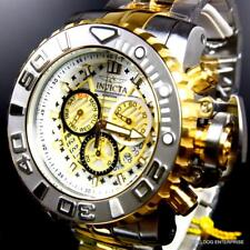 Invicta Sea Hunter Gen II 70mm Steel Chronograph Two Tone Gold Swiss Watch New