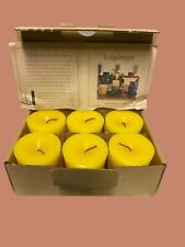 Longaberger Votive Candle 6 Pack Vanilla New