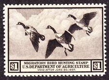 US RW3 $1 Duck Hunting Mint VF OG NH SCV $325