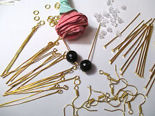 New Gold Earring Jewelry Kit Making Wholesale Lot Findings Supplies Ear Wire Set