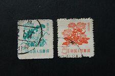 China, Volksrep., Blumen (2 Marken gestempelt)