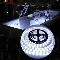 DC 12V Waterproof Cool White 5M 300leds 2835 Boat Pontoon Bow LED Light Strip US