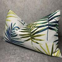 "Cushion Cover 12""x20"" Prestigious Textiles Topanga Fabric , Leaf Palm Design"