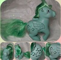 MLP 1983 My Little Pony G1 MEDLEY Green Pegasus Pony Music Notes Vintage SWEET!