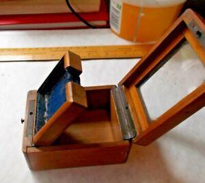 SMALL VICTORIAN MAHOGANY POCKET WATCH BOX. FOR SMALLER POCKET WATCH or FOB.vgc