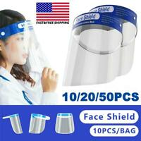 (10/20/50PCS) Safety Full Face Shield Reusable FaceShield Clear Washable