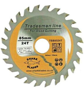Shark Blades 85mm x 24T TCT Circular Wood Saw Blade for Worx Worxsaw Bosch Ryobi