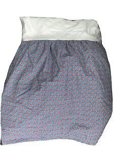 Chaps Home Ralph Lauren Rodapie Floral Bed Skirt Dust Ruffle ~ Blue Red ~ Queen