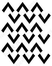 Greater Than Pattern Stencil, Up and Down Arrows, Arrows, Wall Stencil ,Mylar