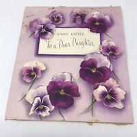 Vintage 1954 Happy Easter Daughter Greetings Card Ephemera Paper