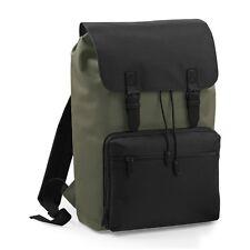 Olive Vintage Laptop Bag Backpack Rucksack Case School Work College Briefcase