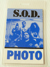 STORMTROOPERS OF DEATH Laminated PHOTO Backstage Tour Pass (S.O.D.)