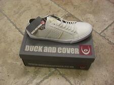 BNIB Mens DUCK & COVER White LACED  Fashion Trainers (BROGAN) SIZE UK 11 /EU 45