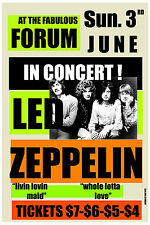 Robert Plant & Jimmy Page Led Zeppelin at Los Angeles Forum Poster 1973 12x18