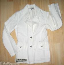IKKS - Veste blanche coton et lin - Taille 10 ans - BE !!!!!