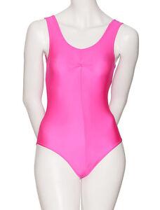 Dance Gymnastics Sleeveless Shiny Lycra Ruche Leotard All Colours & Sizes KDC006
