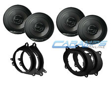 """FRONT AND REAR PIONEER 6.5"""" 2-WAY CAR TRUCK STEREO SPEAKERS W/ MOUNTING BRACKETS"""