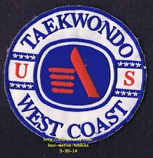 "LMH PATCH Badge  WEST COAST TAEKWONDO  Martial Arts Karate School Family  3-3/4"""