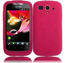 T-Mobile Huawei myTouch Rubber SILICONE Soft Gel Skin Case Phone Cover Hot Pink