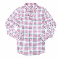 Vineyard Vines Boys Shirt Red Blue Size Large L (16) Plaid Button-Down $59 364