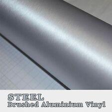 2xa4 argento acciaio alluminio spazzolato Veicolo Avvolgere in Vinile Senza Bolle COLLA 3m