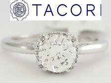 0.12 ct TACORI Dantela 2620RDPT 18k White Semi-Mount Engagement Ring Rtl $2,200