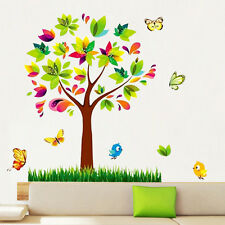 Flower Scroll Tree Butterfly Birds Wall Sticker Mural Decal Kids Room Decor Luzh