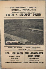 More details for doncaster rovers v stockport county 1945/46