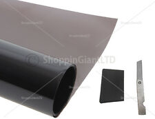 Ultra Dark Black Windscreen Sun Visor Film Tint Strip Car Solar Shade 300x76CM