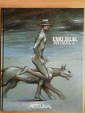 """Enki Bilal """"Animal'z"""" Catalogue d'exposition dédicace + Dessin - numéroté 57/99"""