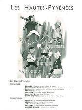 Publicité ancienne vacances les Hautes-Pyrénées 1955 issue de magazine