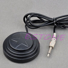 Round 360 Star Tattoo Machine Footswitch Foot Pedal Controller Power Supply Blac