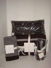 Pottery Barn Kids Sock Monkey Quilt Skirt Pillow Stroller Blanket Gray Brown NWT