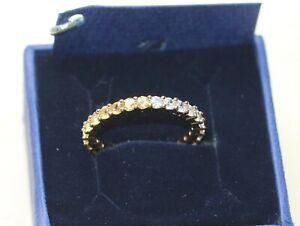 Swarovski Vittore Ring Gold Plated White/Yellow Gr.60 New with Box