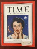Elizabeth Taylor - Movie Star - 1949 TIME Magazine - Complete Issue