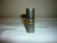 Rare ancien tube à rouge à lèvre MARCEL ROCHAS ANNEES 50 argent métal argenté